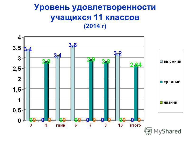 Уровень удовлетворенности учащихся 11 классов (2014 г)