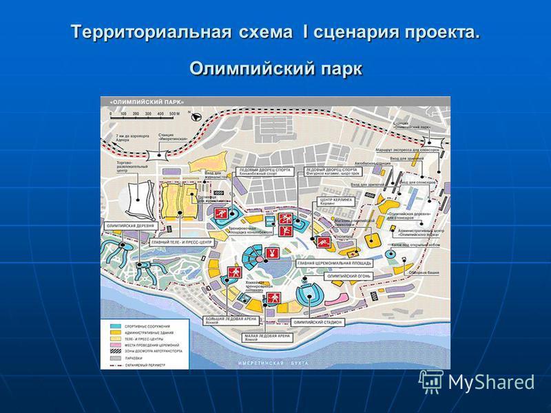 Территориальная схема I сценария проекта. Олимпийский парк