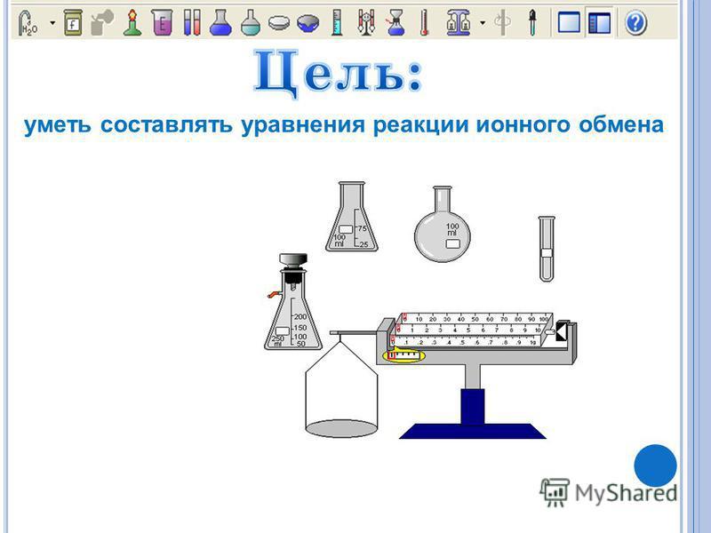 уметь составлять уравнения реакцииии ионного обмена
