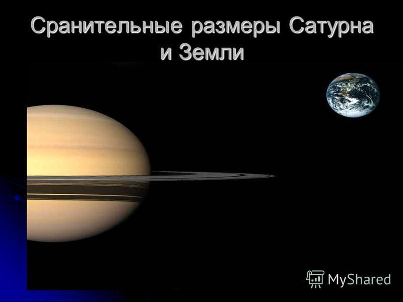 Сранительные размеры Сатурна и Земли