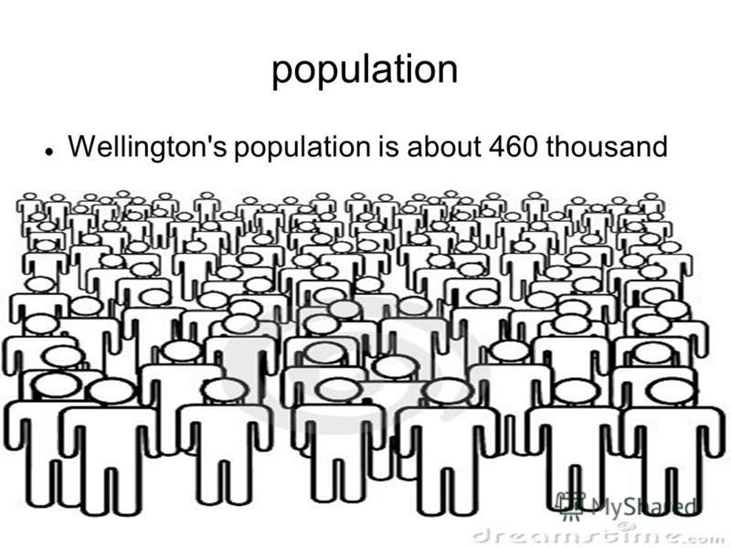population Wellington's population is about 460 thousand people