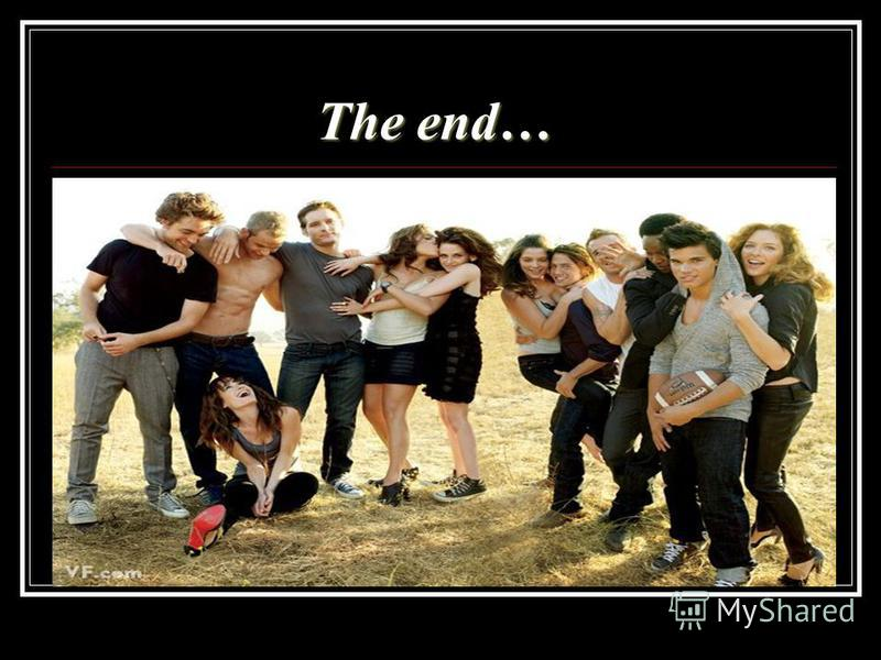 The end… The end…