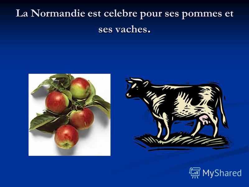 La Normandie est celebre pour ses pommes et ses vaches.
