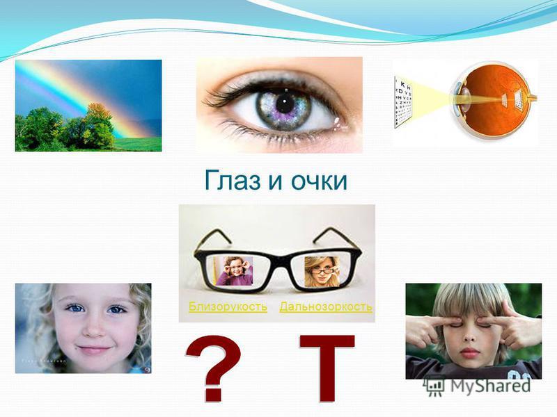 Глаз и очки Близорукость Дальнозоркость