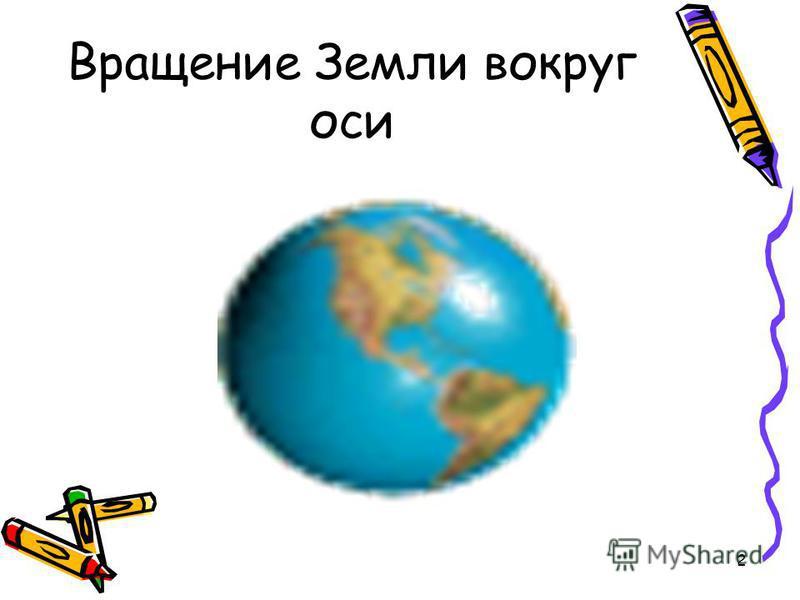 2 Вращение Земли вокруг оси