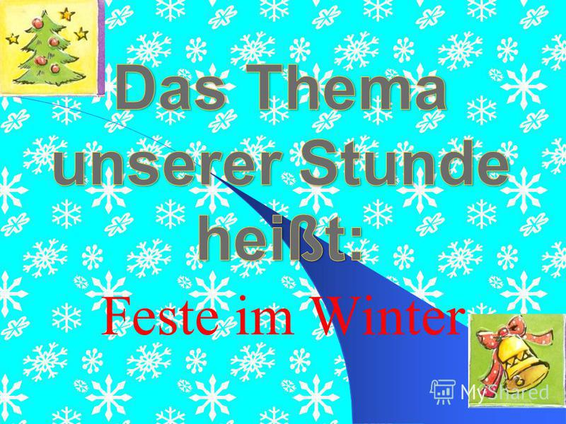 Feste im Winter