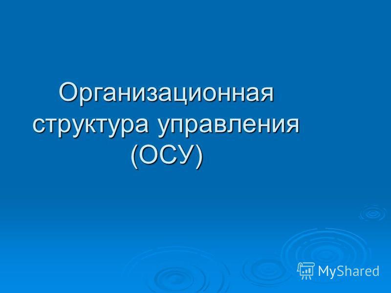 Организационная структура управления (ОСУ)
