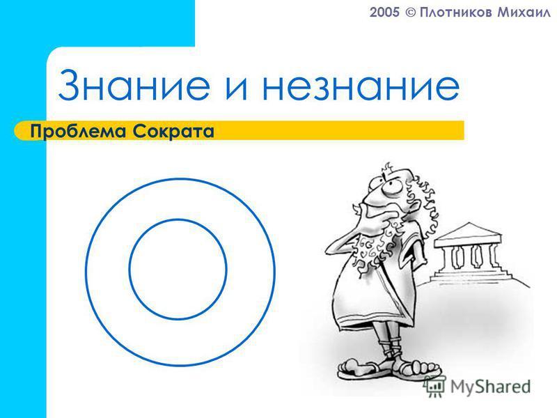 2005 Плотников Михаил Знание и незнание Проблема Сократа