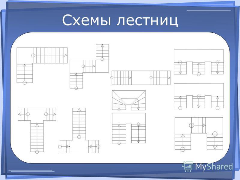 Схемы лестниц