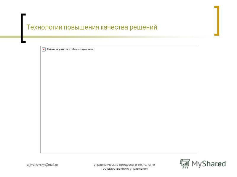 a_ivanovsky@mail.ruуправленческие процессы и технологии государственного управления 26 Технологии повышения качества решений