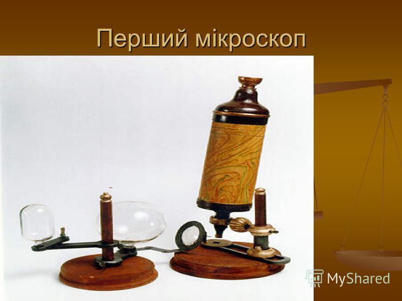 Перший мікроскоп