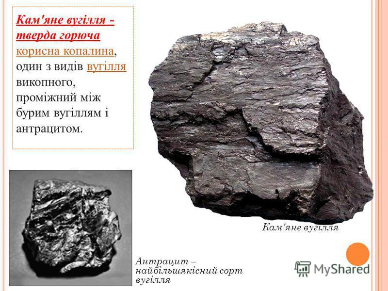 Вугілля Чорна металургія Електроенергетика Паливо Сировина для хімічної промисловості