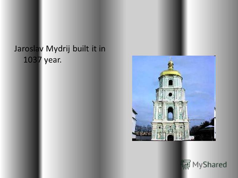 This is Sofija Kyivska. It is famous ukrainian church.