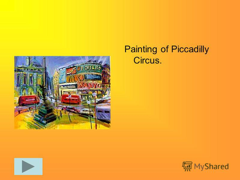 Painting of Piccadilly Circus.