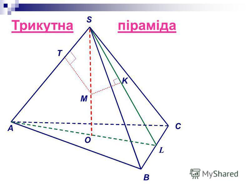 Трикутнапіраміда O M A S B C L K T