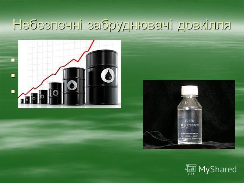 Небезпечні забруднювачі довкілля Пестициди Пестициди Важкі метали Важкі метали Нафтопродукти Нафтопродукти
