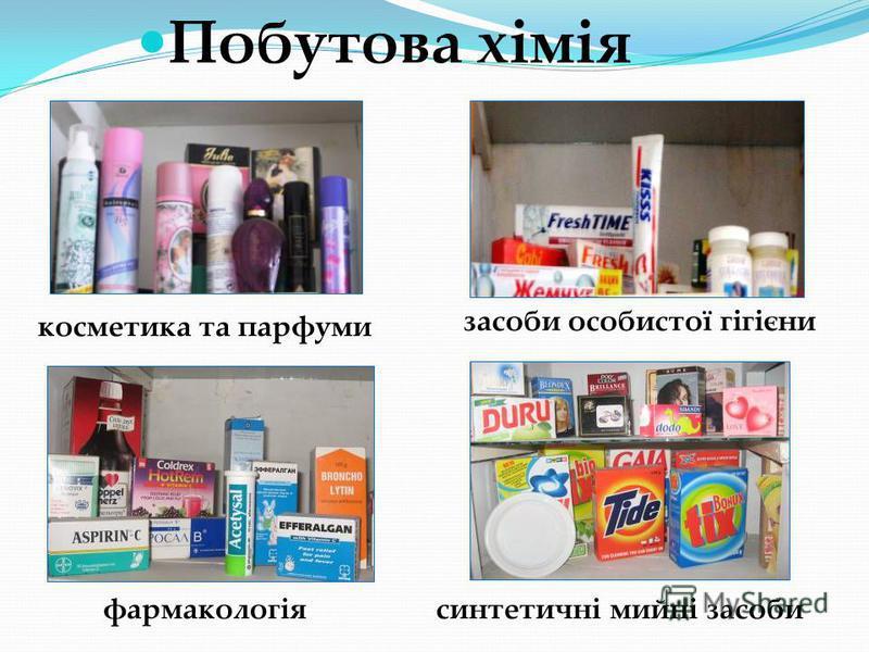 Побутова хімія косметика та парфуми синтетичні мийні засоби засоби особистої гігієни фармакологія