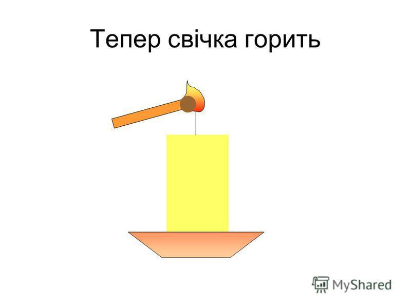 Тепер свічка горить