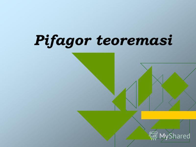 Pifagor teoremasi