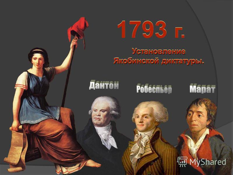 1793 г. Установление Якобинской диктатуры. Установление Якобинской диктатуры.
