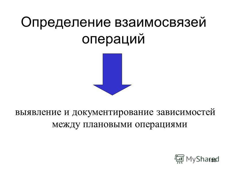 135 Определение взаимосвязей операций (Activity Sequencing).