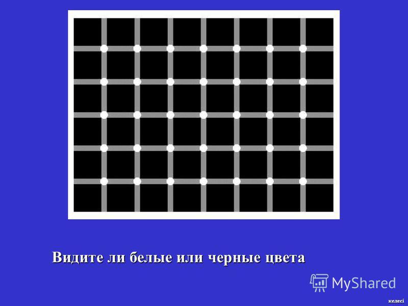 Видите ли белые или черные цвета келесі