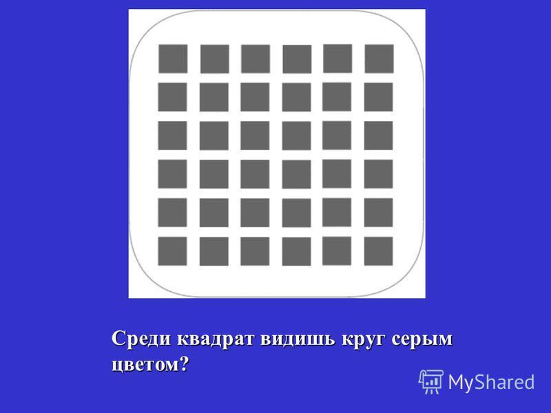 Среди квадрат видишь круг серым цветом?