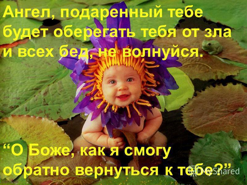 Ангел, подаренный тебе будет оберегать тебя от зла и всех бед, не волнуйся. О Боже, как я смогу обратно вернуться к тебе?