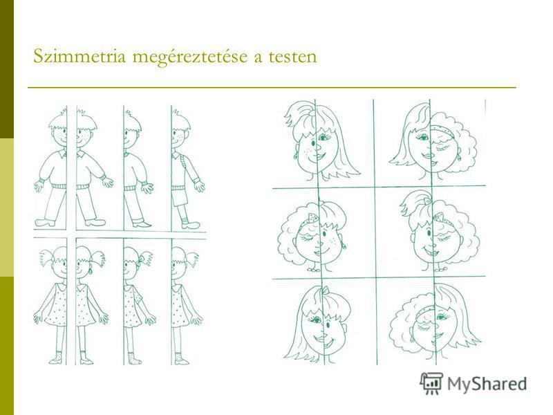 Szimmetria megéreztetése a testen