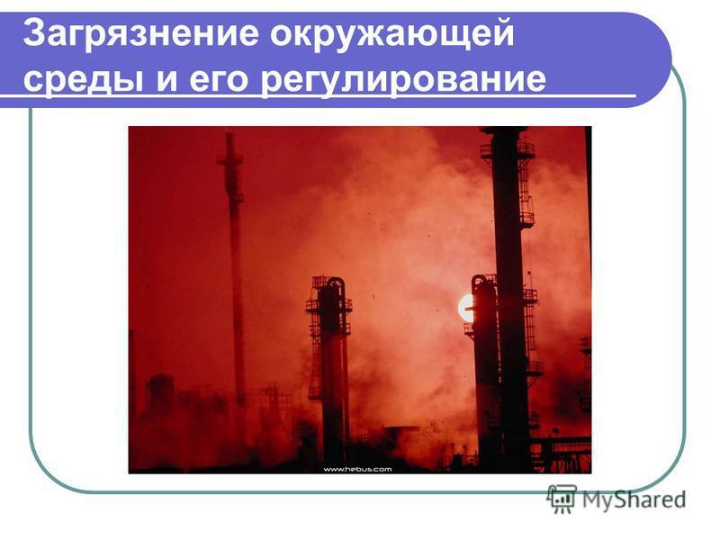 Загрязнение окружающей среды и его регулирование