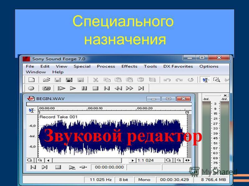 Звуковой редактор Специального назначения