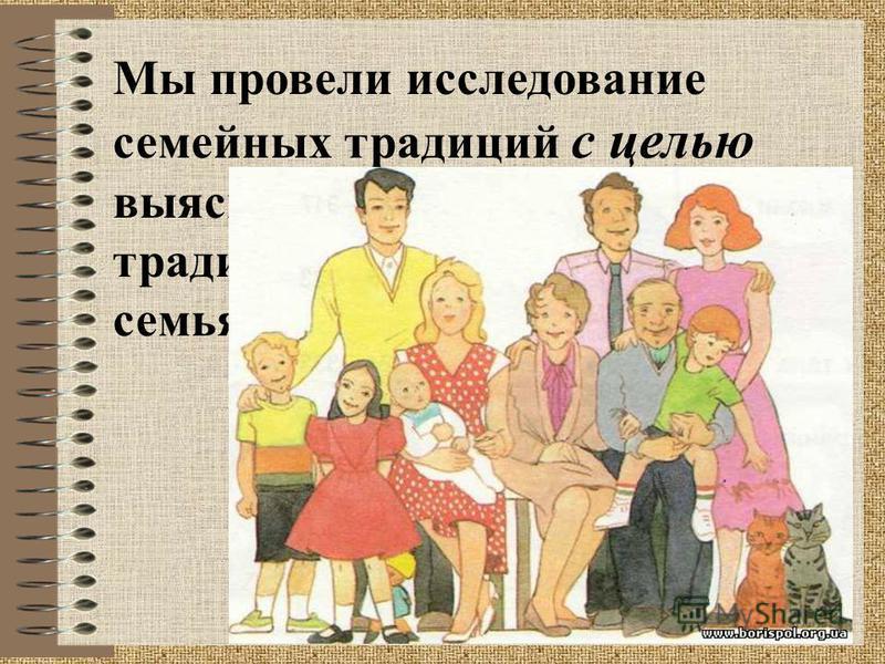 Мы провели исследование семейных традиций с целью выяснения, как много традиций есть в наших семьях.