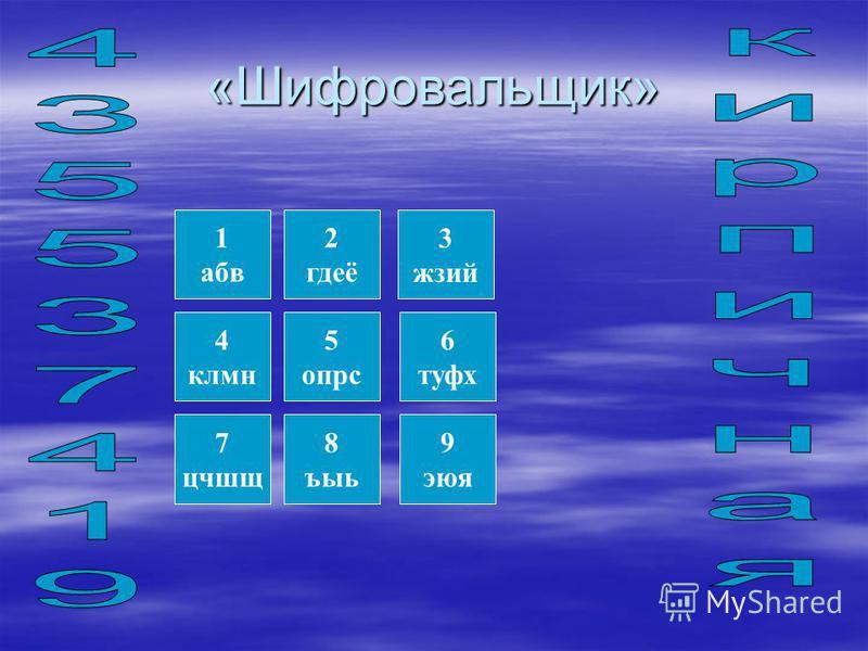 2. Интерактивное упражнение «Шифровальщик» В этом упражнении задание выполняют все присутствующие учащиеся. Каждый учащийся получает код с зашифрованным словом вида поверхности которая подвергается отделке. Перед вами появится шифровальщик. Каждая ци