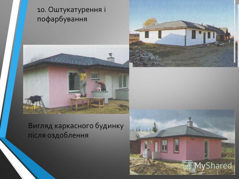 10. Оштукатурення і пофарбування Вигляд каркасного будинку після оздоблення