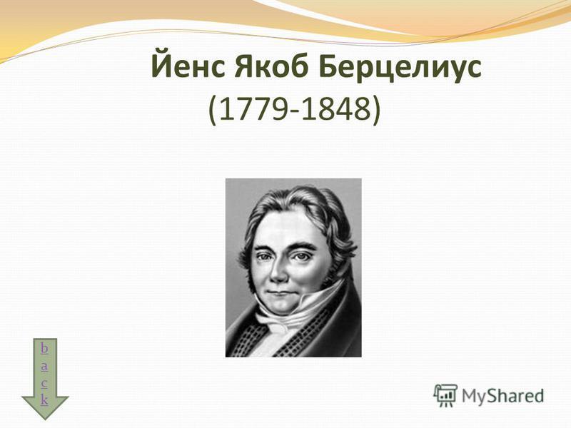 Йенс Якоб Берцелиус (1779-1848) backback