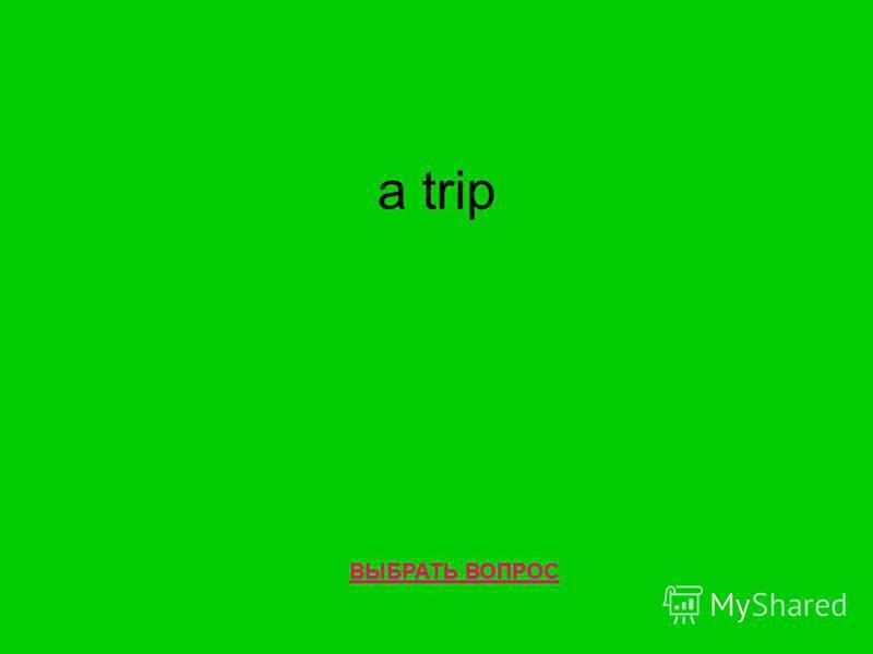 a trip ВЫБРАТЬ ВОПРОС