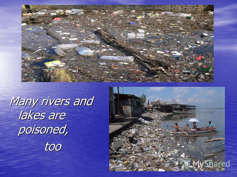 Many rivers and lakes are poisoned, too