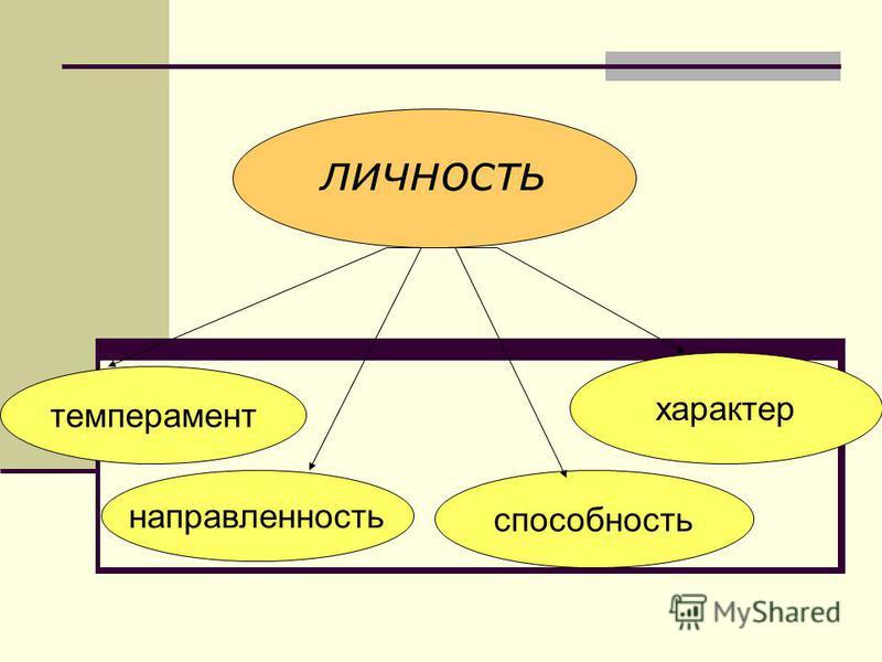 личность темперамент характер способность направленность