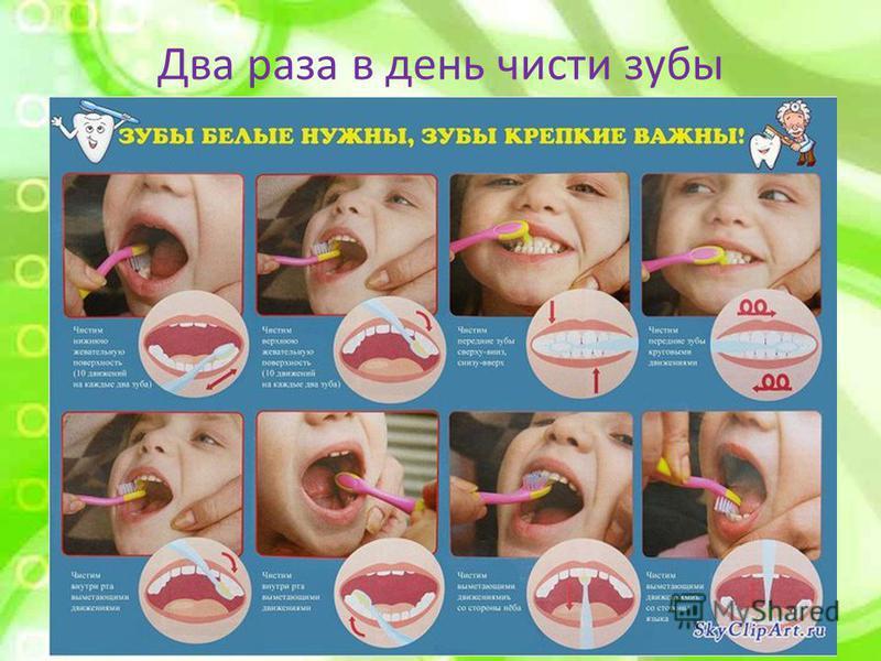 Два раза в день чисти зубы