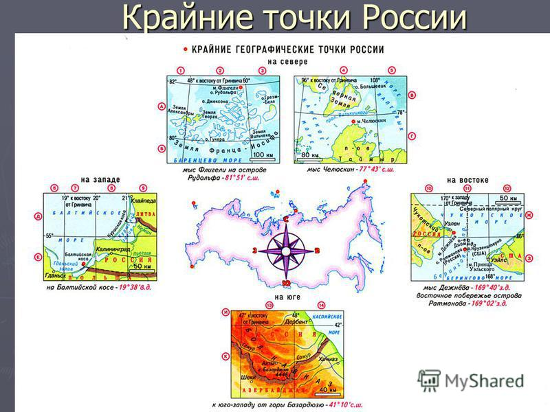 Крайние точки России Крайние точки России