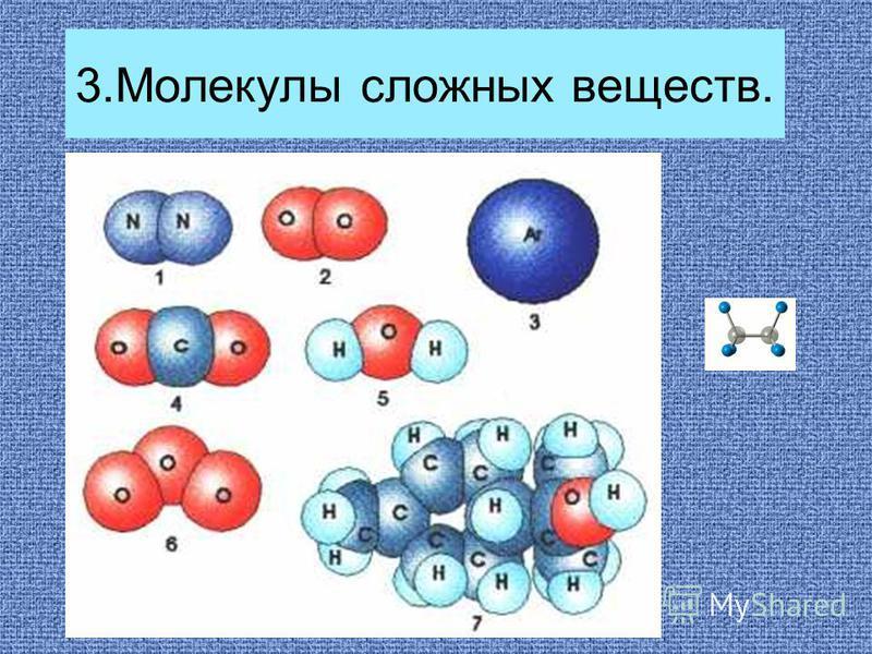 3. Молекулы сложных веществ.