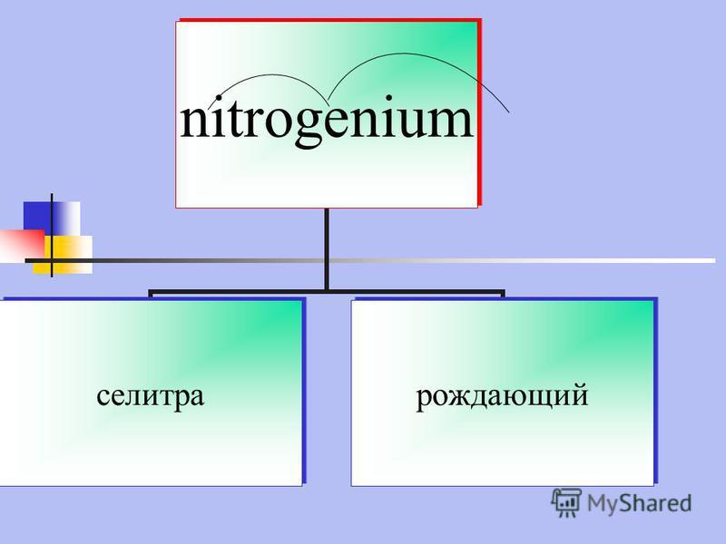 nitrogenium селитра рождающий