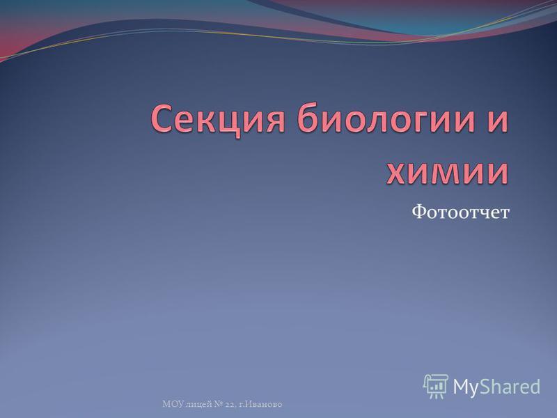 Фотоотчет МОУ лицей 22, г.Иваново
