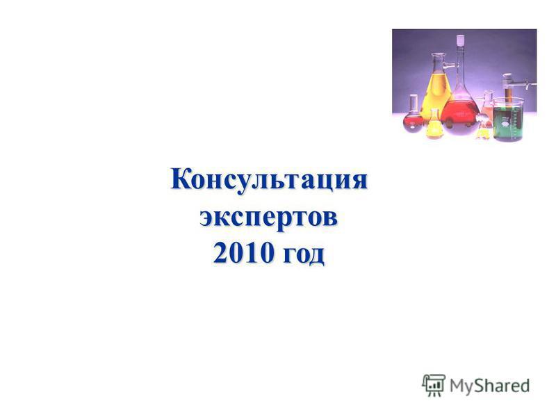 Консультация экспертов 2010 год