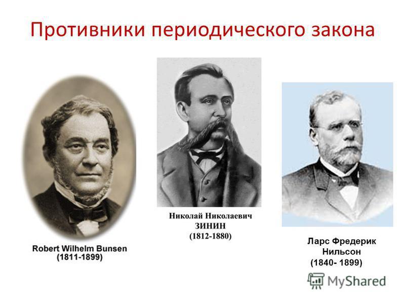 Противники периодического закона Ларс Фредерик Нильсон (1840- 1899)