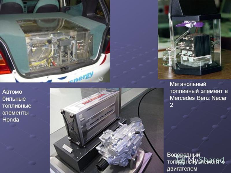 Метанольный топливный элемент в Mercedes Benz Necar 2 Автомо бильные топливные элементы Honda Водородный топливный элемент с двигателем