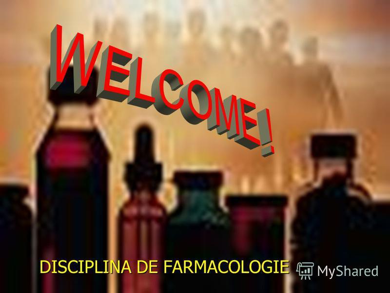 DISCIPLINA DE FARMACOLOGIE