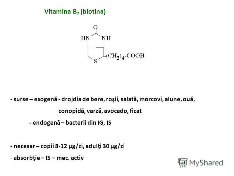 Hipovitaminoză - cauze - aport redus, alcoolici - tratament cu HIN, L-DOPA - vegetarieni - dermatită seboreică - glosită atrofică, ulceraţii bucale - tulburări neurologice – somnolenţă, confuzie, neuropatie - reducerea toleranţei la glucoză
