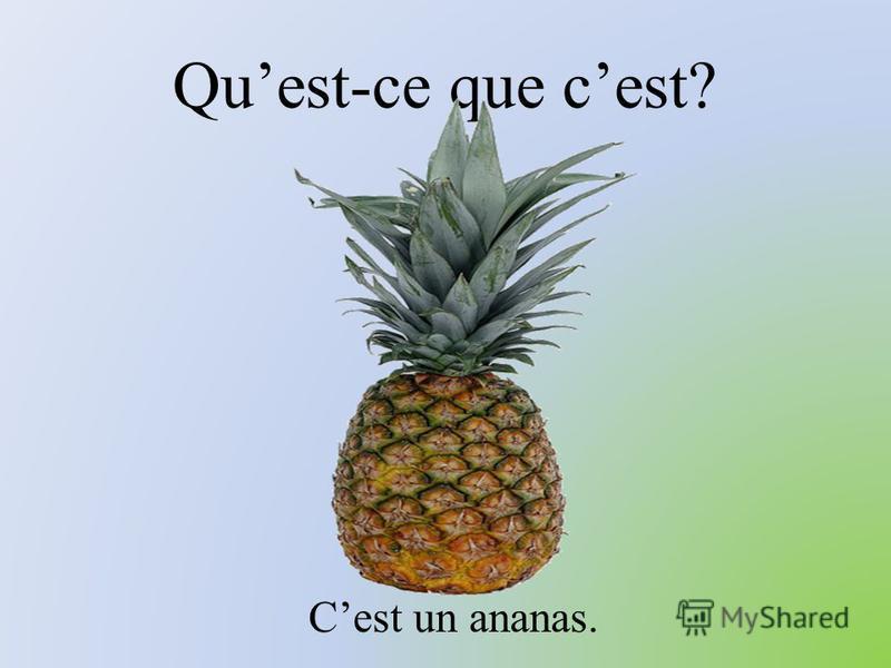 Quest-ce que cest? Cest un ananas.
