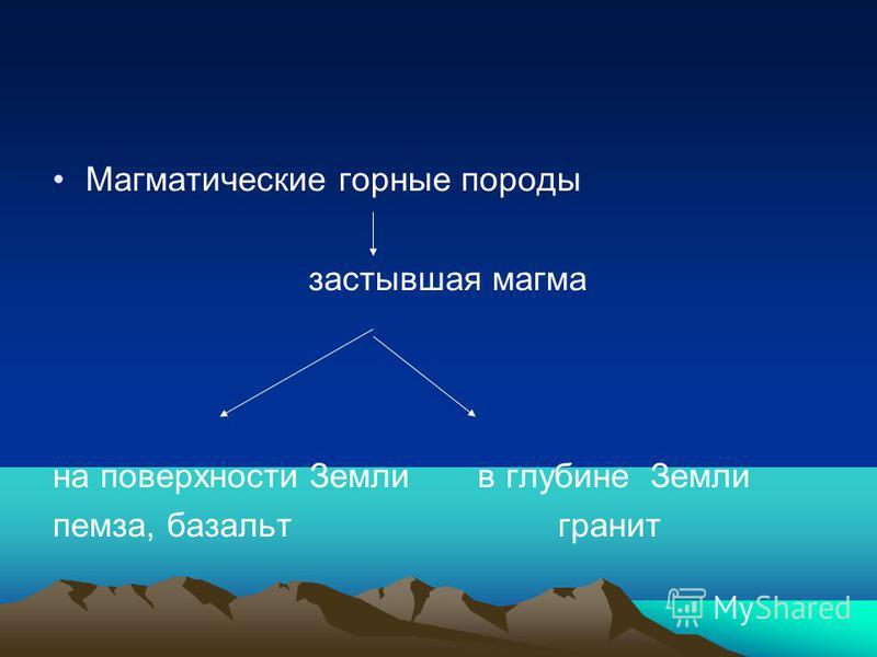Магматические горные породы застывшая магма на поверхности Земли в глубине Земли пемза, базальт гранит